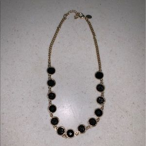 Charming Charlie druzy style black stone necklace